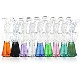 Pipa ad acqua in vetro mini vetro borosilicato nero / smeraldo / verde / viola / Rosa / trasparente / blu / giallo