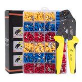 PARON JX-1601-01T AWG24-14 Crimper Plier Wire Crimper Tools Kit Ratchet Plier Hand Tools with 500Pcs Terminals
