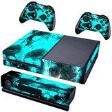 Biru Tengkorak Penutup Decal Skin Sticker Untuk Xbox One Konsol Game Controller