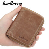 Baellerry Men Faux Leather Multi-card Zíper Card Bolsa