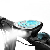 Electric Bicycle Front Light Bike Headlight Cycling Bell Waterproof Horn USB Charging Speaker