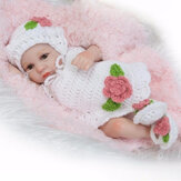 11 Inch Lifelike Newborn Reborn Silicone Vinyl Baby Girls Doll + Clothes Gift