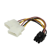 PC Power Supply Dual 4Pin to 6Pin PCI-E Graphics Card SATA Power Cable Splitter Cable Power Supply Cable