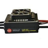 WOLF 200A PRO Aluminiumlegierung Voll wasserdicht Brushless Regler für 1/5 1/8 RC Automodelle