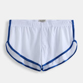 Mens Mesh Shorts de seta respirável Home Sleepwear Boxer