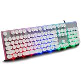 Retro Punk Round Suspension Keycaps 104 Tasten Mechanische Tastatur USB-Kabel LOL CF RGB Gaming-Tastatur mit Hintergrundbeleuchtung