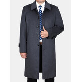 Woolen Mid-long Casual Trench Coats