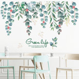 Loskii FX82118 Green Life Green Vines Leaves Wall Sticker Chambre Salon Fond Décoration Mural Home Art Decal