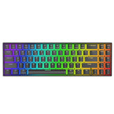 Royal Kludge RK71 71 toetsen mechanisch gamingtoetsenbord Dual Mode bluetooth 3.0 + USB bedraad RGB-verlicht mechanisch toetsenbord
