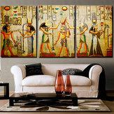 Miico مرسومة باليد ثلاثة مزيج اللوحات الزخرفية كليوباترا صورة جدار الفن للديكور المنزل