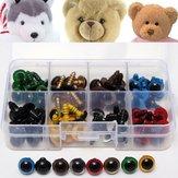 80stk 12mm Craft Plastic Colorful Sikkerhedsøjne til bamsedukker Legetøj DIY Making Doll Accessories