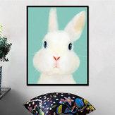Miicoの手塗りの油絵の漫画のウサギの絵画家の装飾のための壁の芸術