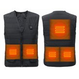 Electric 5V USB Heated Vest Winter Fast Warm-Up Coat Jacket 3 Adjustment Temp