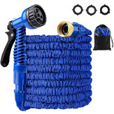 25-200FT EU/US Standard Expandable Magic Blue Flexible Garden Water Hose Car Hose Pipe Connectors Plastic Hose Garden Watering Sets w/ Water Shower