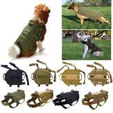 Tático K9 Cachorro Molle Polícia Militar Colete Nylon Serviço Canino Cachorro Arnês XL