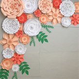 2 PCS Large Paper Flowers Backdrop Birthday Wall Decor Party DIY Decoration
