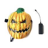 Halloween LED Mask Fluorescent Pumpkin Style Terror EK Glowing Mask for Decoration
