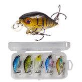 ZANLURE 5 piezas / set 6cm señuelo giratorio de cebo duro pesca señuelo