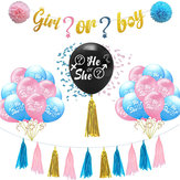 Latexballonger Pojke eller flicka / He Or She Creative Party Baby Shower Supply Party Decorations