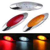 12V 6,5 Zoll Oval Cab Side Marker Lights 16 LED Lünette für LKW Marine Boat