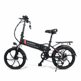 [EU Direct] SAMEBIKE 20LVXD30 10.4AH 48V 350W Electric Moped Bike 20 inch E-bike 35km/h Top Speed 80km Mileage Electric Bike