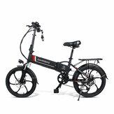 [AB Doğrudan] SAMEBIKE 20LVXD30 10.4AH 48 V 350 W Elektrikli Moped Bisiklet 20 inç E-bisiklet 35 km / s Üst Hız 80 km Kilometre Elektrikli Bisiklet
