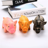 Latex Pig Shape Toy Grunting Sound Dog Puppy Chewing Squeaker Pet Funny Playing Toys