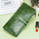 Women Genuine Leather Long Wallet Clutches Bag Phone Bag