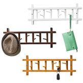 6/8 Hooks 360 Degree Rotating Coat Rack Wall Mount Rail Wooden Hat Clothes Towel Holder