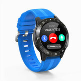 Bakeey M5s Real Full Roud Touch chiamata bluetooth GSM Built-in GPS Bussola Barometro Pressione sanguigna Meteo Smart Watch Phone