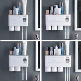 2 / 3Cup Magnetische tandenborstel Telefoonhouder Automatische tandpasta Dispenser Wandgemonteerd opbergrek