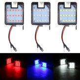 Par LED Poça Luz Espelho Retrovisor Sob Lâmpada Branco / Vermelho / Azul Para Ford Focus Mondeo Kuga C-Max Escape