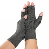 KALOAD 1 Pair Sports Anti-skid Compression Gloves Health Care Half Finger Gloves Arthritis Pain Relief Gloves