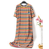 Plus Size Stripe Nightgown