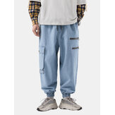 Mens New Fashion Casual Loose Plus Tamanho Jean Retro Bonito