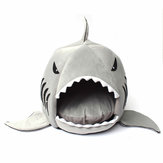 M / L Size Unique Washable Soft Shark Mouth Pet Dog Cat Cave Pet Bed House