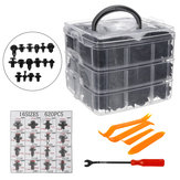 Plastic Fastener Clips Rivet Kit with Tool 620PCS/650PCS/690PCS for Car Bumper Door Panel Trim