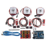 Kit CNC Con UNO + Escudo + Stepper motor DRV8825 Tope final A4988 GRBL