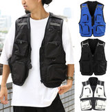 Multi-pocket Men Tactical Vest Outdoor Fishing Breathable Quick Dry Waistcoat Jacket