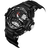SYNOKE 9601 Men Fashion Waterproof Sport Dual Display Watch