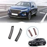 Carbon Fiber Car Interior A Pillar Air Conditioning Vent Trim Cover Sticker Accessories Styling For Hyundai Santa Fe 2019 2020