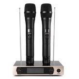 UHF vezeték nélküli mikrofonrendszer LCD kijelzője Dual kézi mikrofon party KTV vezeték nélküli mikrofonok