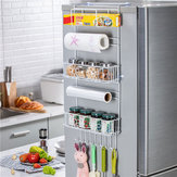 Kitchen Multipurpose Refrigerator Side Storage Rack Side Shelf Organizer