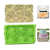 Halloween Party DIY Rosette Ruffle Roses Silicone Mold Fondant Cake Baking Mould