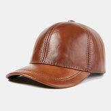 Gorras de béisbol de piel de vaca informal de capa superior al aire libre
