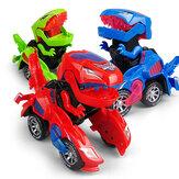 Elektrisches transformierendes T-Rex-Dinosaurierauto mit Spielzeugmodell aus hellem Tierdruckguss