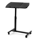 Adjustable Height Laptop Stand Rolling Cart Desk Computer Table Desk Bed Sofa Tray Rolling Portable Notebook Desk with Wheels