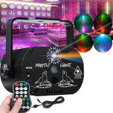 60 Patterns RGB Laser Light DJ Projector LED Stage Effect Lighting Voice Control