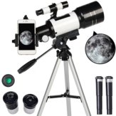 150X Astronomical Telescope 70mm Aperture 300mm Focal Length Tripod Outdoor Camping Telescope for Kids & Beginners