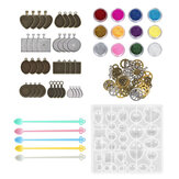 55Pcs/Set Silicone Casting Molds and Tools Jewelry Pendant Resin Mould DIY